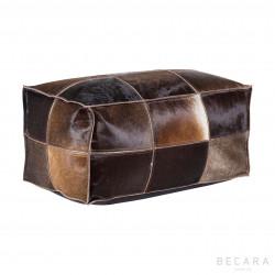 Puff de cuero vintage marrón