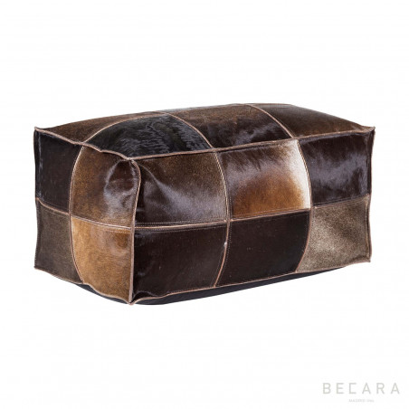 Vintage brown leather puf