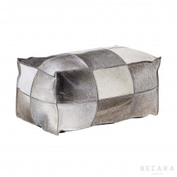 Vintage gray leather puf