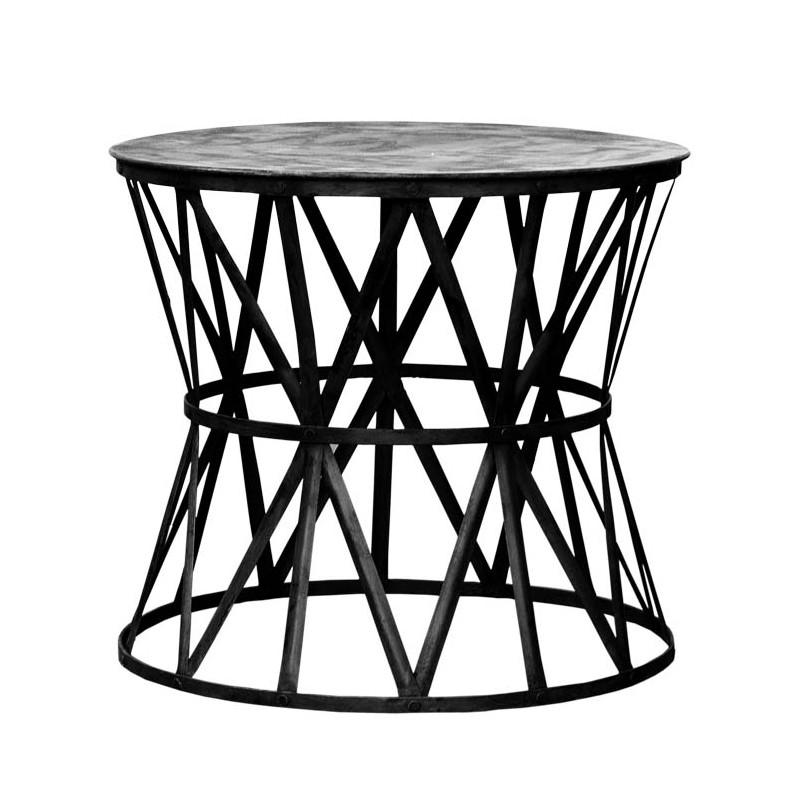 Mesa auxiliar tiras de metal  - BECARA
