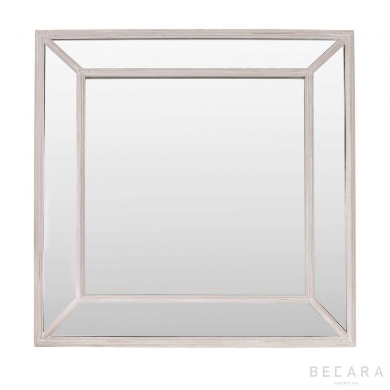 Espejo Nash marco antiq color topo - BECARA