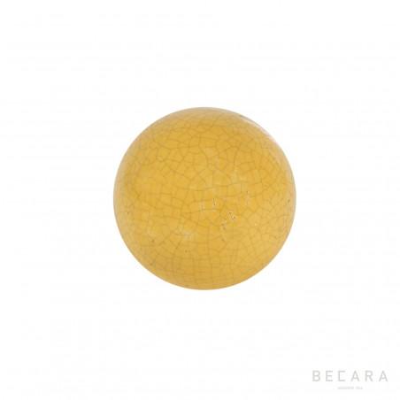 Bola Crack color mostaza