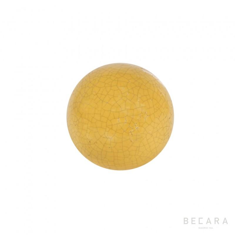 Bola Crack color mostaza - BECARA