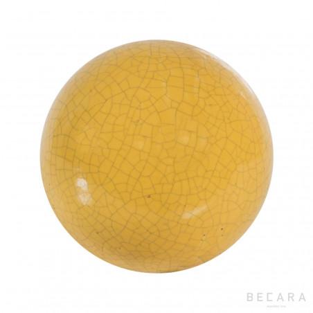 Bola decorativa color mostaza