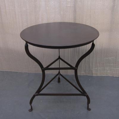 ROUND GARDEN OXIDE LIGHT TABLE N.M.