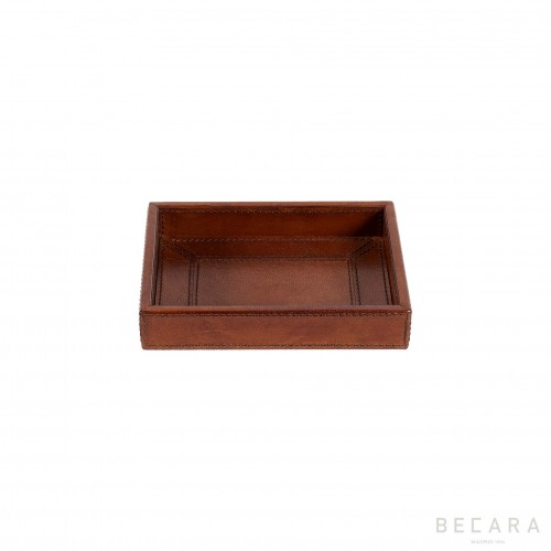Small leather tray