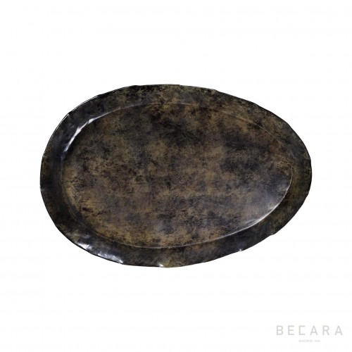 Big grey oval tray