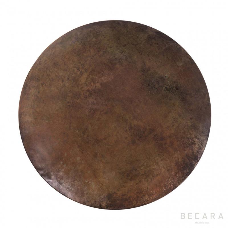 Bandeja marrón redonda - BECARA