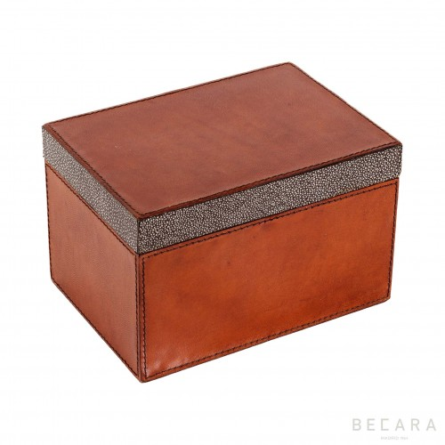 Big rectangular leather box