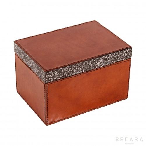Caja de cuero rectangular grande - BECARA
