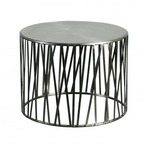 Mesa tambor con tiras de níquel