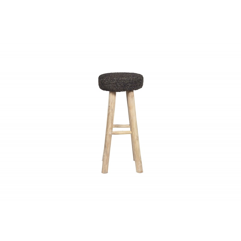 Big black Oslo stool