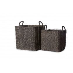 Set of 2 black Provenza baskets