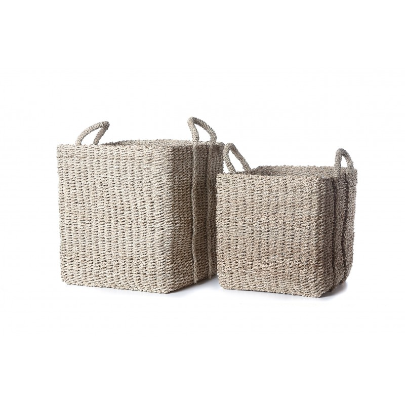 Set of 2 natural Provenza baskets