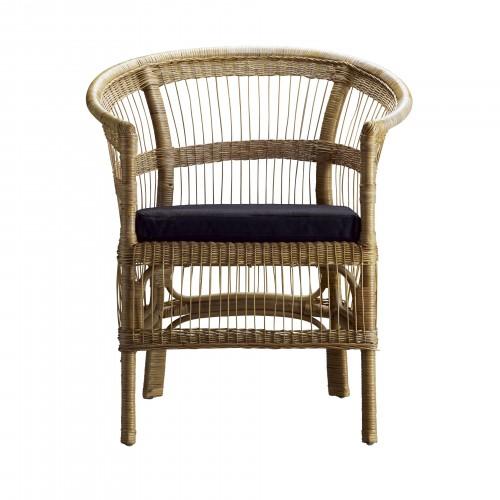Small Berta armchair with black cushion