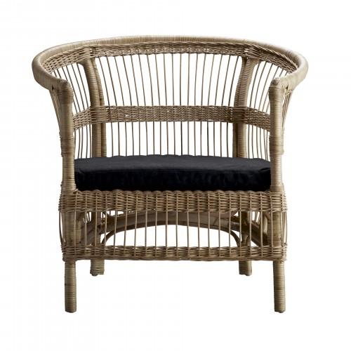 Big Berta armchair with black cushion