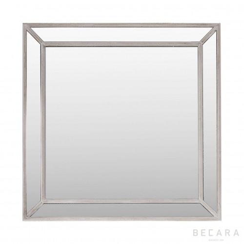 Espejo Nash con marco marrón ceniza - BECARA