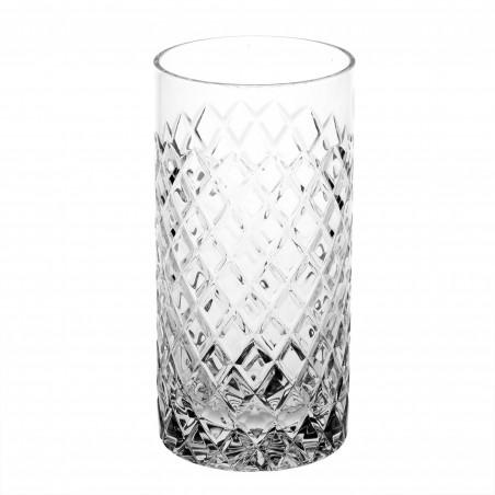 Tall diamond shape carved glass