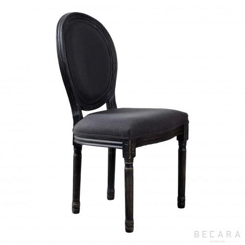 Silla respaldo ovalado tono oscuro - BECARA