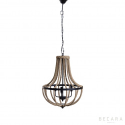 Chandelier lamp with rope