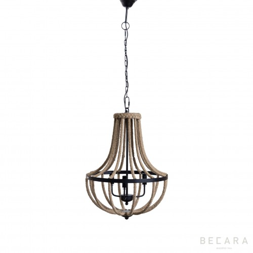 Lámpara Chandelier con cuerda - BECARA