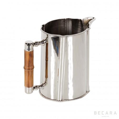 Silver and bamboo jar