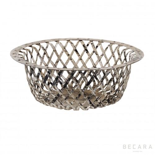 Big grey perforated basket