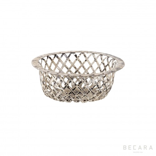 Small grey perforated basket