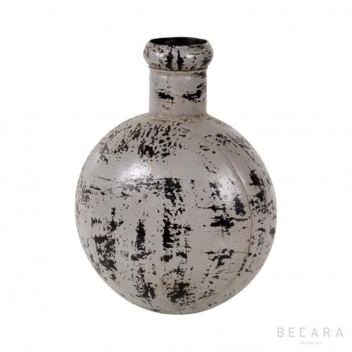 Grey metal bottle