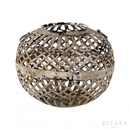 Perforated iron pot