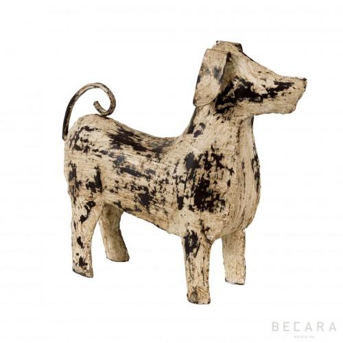 White iron dog