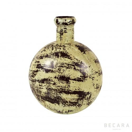 Green metal bottle
