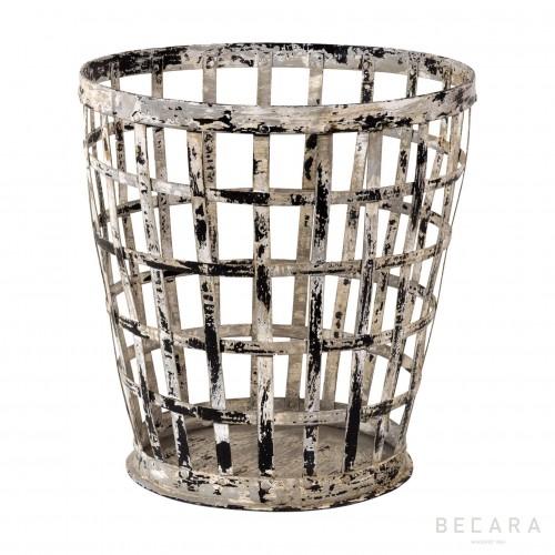 Big grey perforated bin