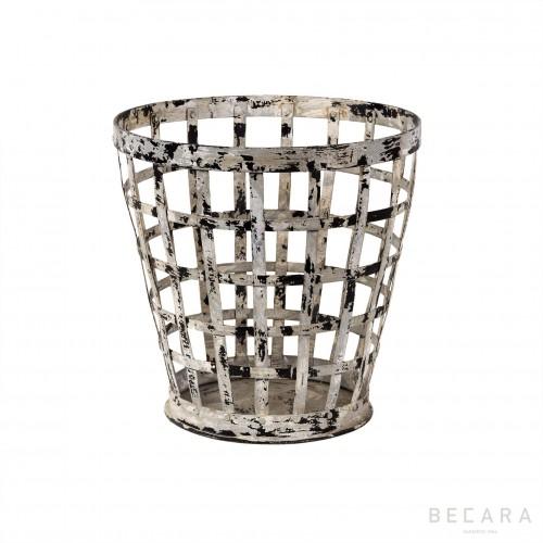 Small grey perforated bin