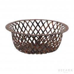 Big red perforated basket