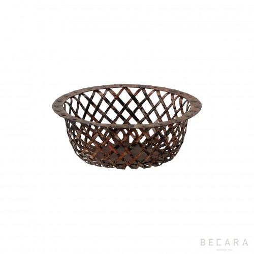 Small red perforated basket