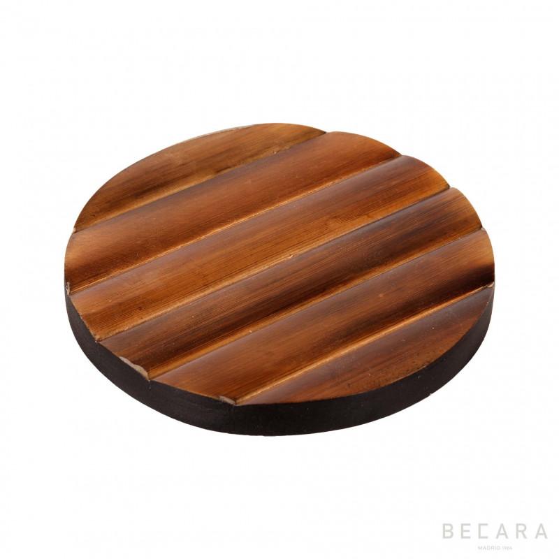 Posavasos redondo bambú - BECARA