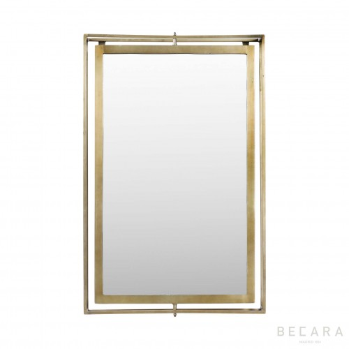 Iron mirror with air frame