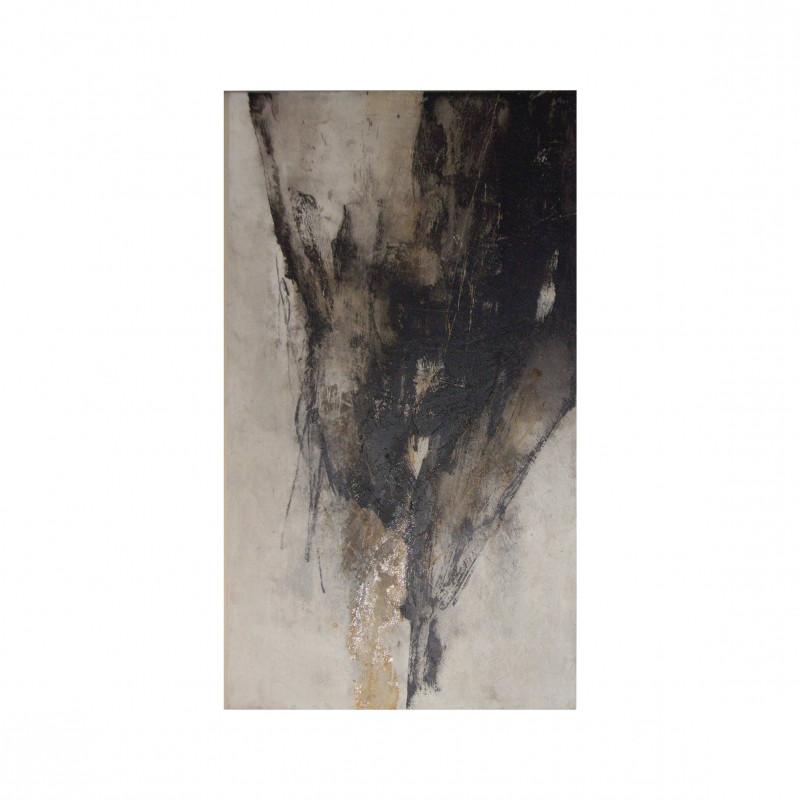 Óleo vertical abstracto I oscuro - BECARA