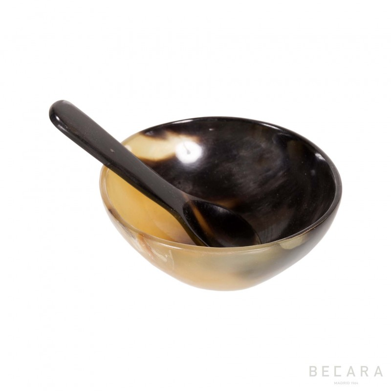 Horn bowl and spoon