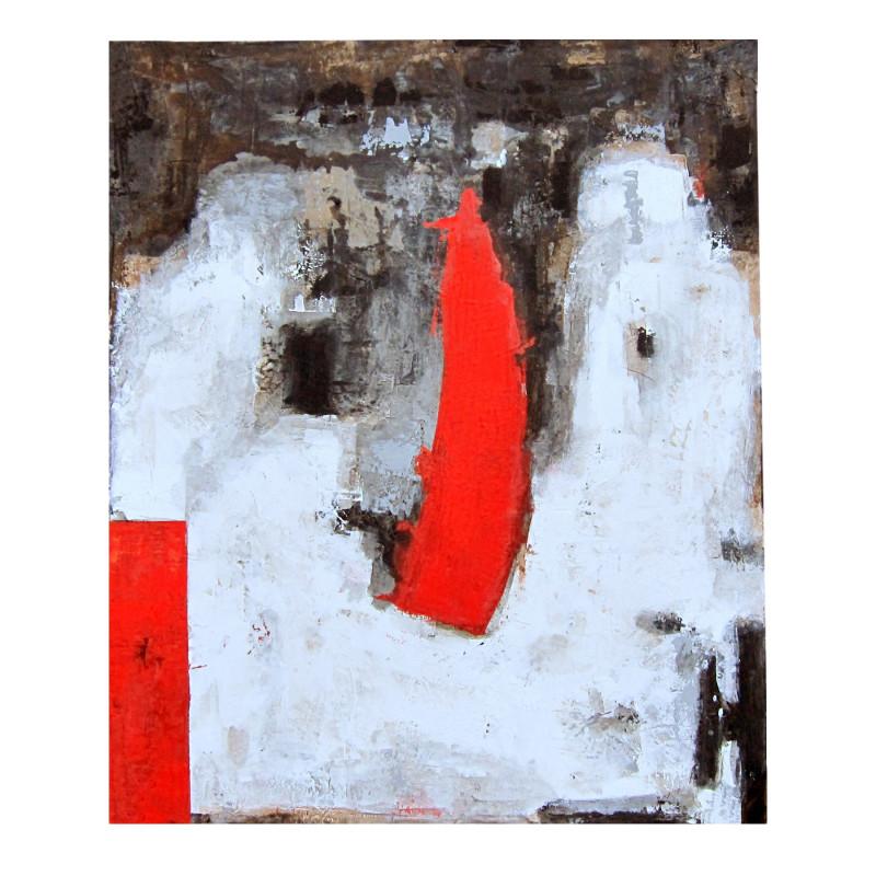 Óleo vertical línea central roja - BECARA