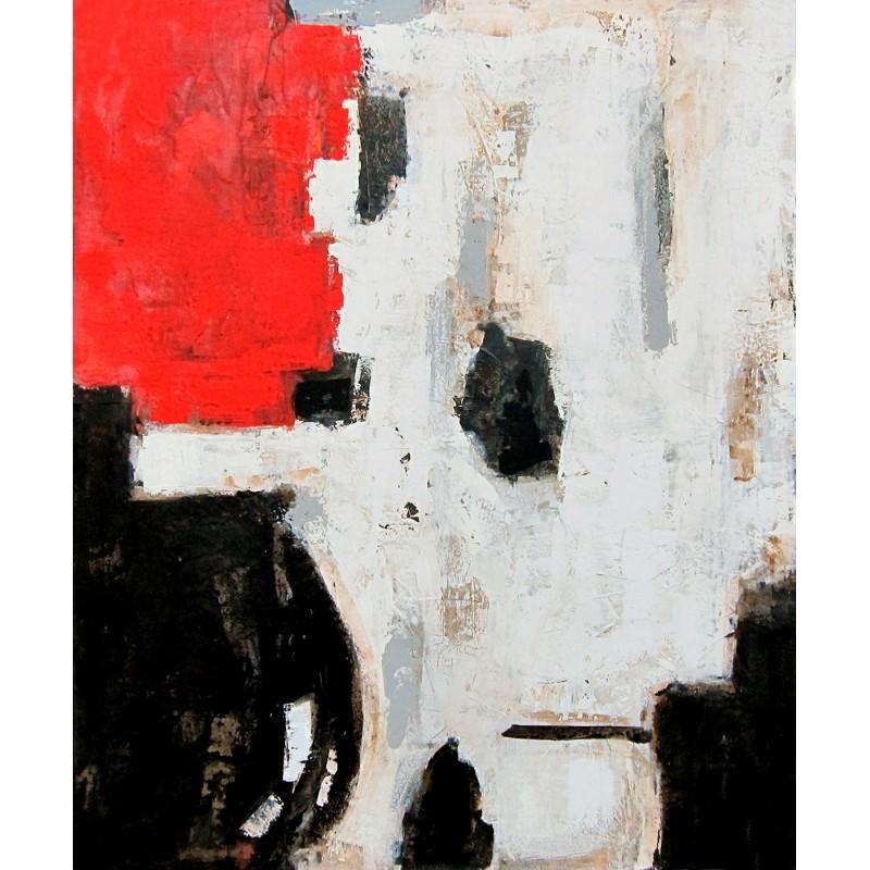 Óleo manchas rojo y negro - BECARA