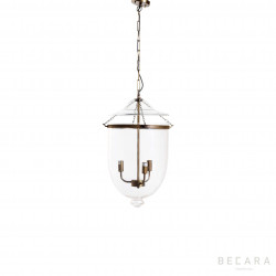 Small glass and light bronze ceiling lamp
