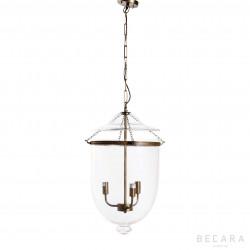 Lámpara de techo grande de cristal y bronce claro