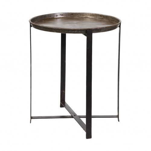 Folding round side table