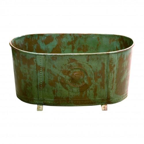 Macetero ovalado verde - BECARA