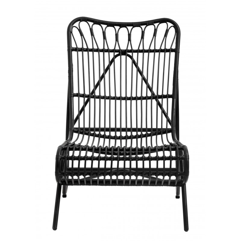 Black garden deck chair