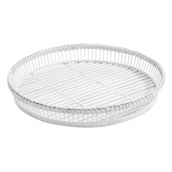 Round white sticks tray