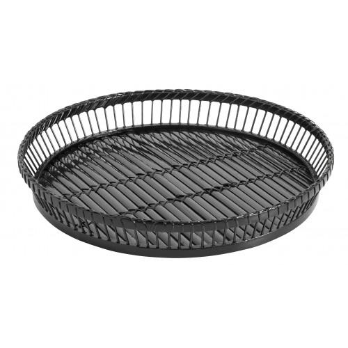 Round black sticks tray