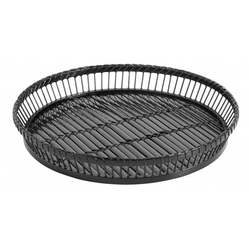 Round black sticks tray
